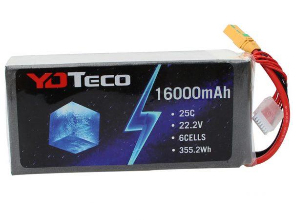 YDTECO 16000MAH 22.2V 6S1P 25C LIPO BATTERY PACK