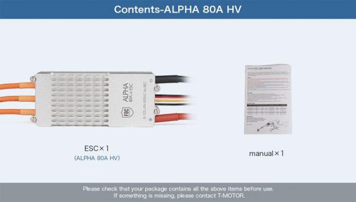 T-MOTOR ALPHA 80A HV ESC FOR MULTIROTORS